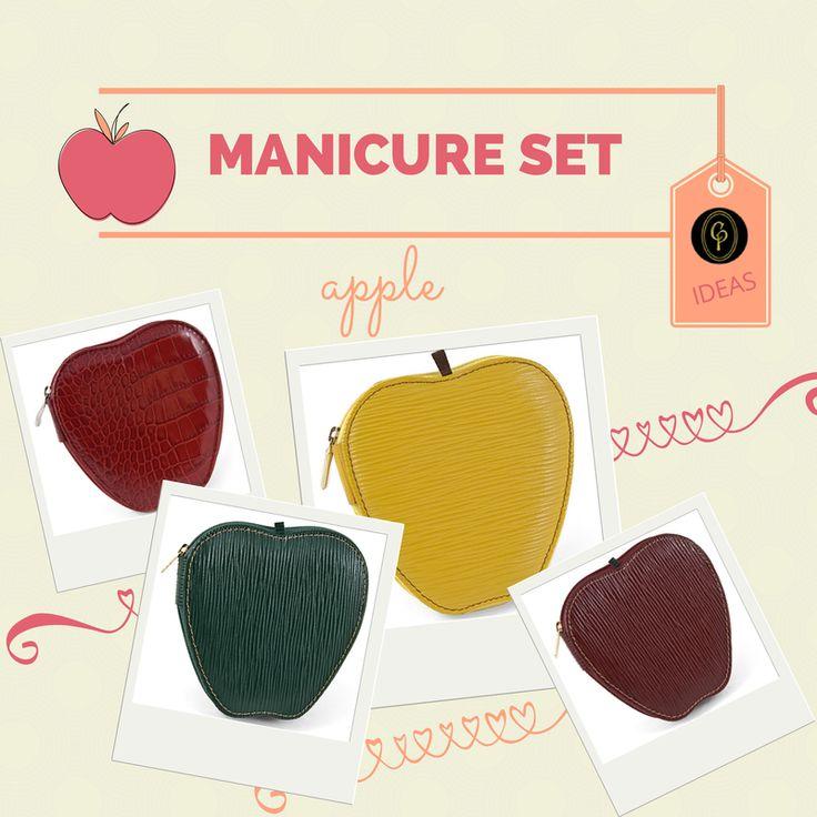 Fresh #gift #summer ideas? An #apple is always good! Pick our cool #travel #manicure #kit http://goo.gl/BOrt08 ******* Fresche #idee #regalo per l'#estate? Una #mela è sempre gradita! Cogli i #set manicure da #viaggio #CepiPelletterie http://goo.gl/aUNyx0