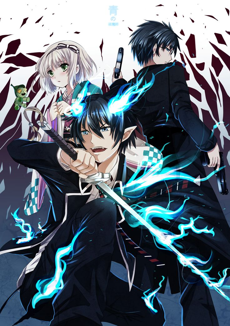 blue exorcist art - Google Search