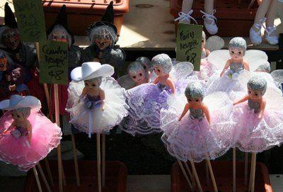 Cupie dolls on sticks