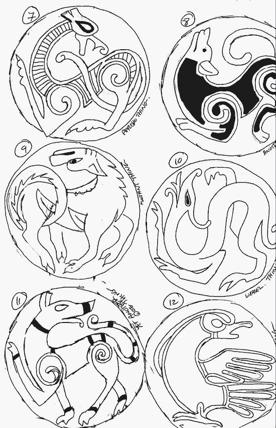 Anglo Saxon Art Patterns Regia anglorum - anglo-saxon,