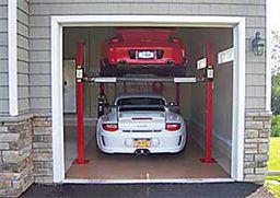 Backyard buddy 7 000 lb standard four post lifts 63 for Raise garage door height