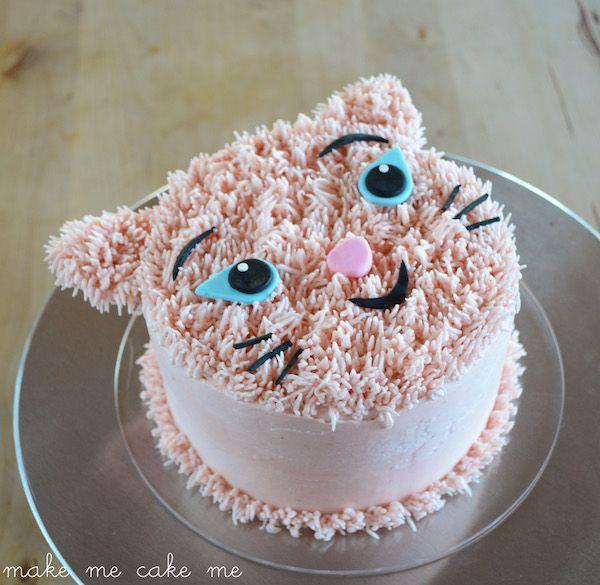 DIY Furry Cat Birthday Cake   Make Me Cake Me