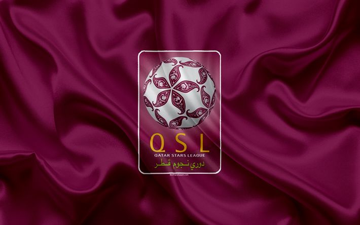 Download wallpapers Qatar Stars League, logo, emblem, 4k, football championship, Qatar