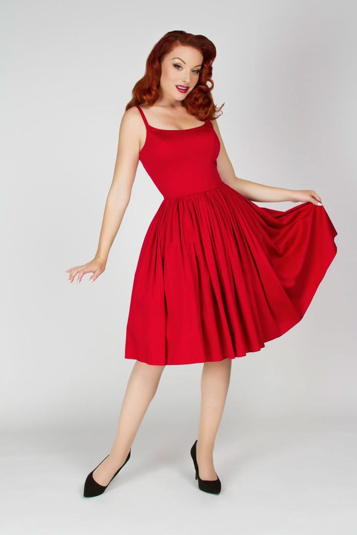 Pinup Couture Jenny Dress in Red | Pinup Girl Clothing