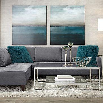 Blue Moon | sp16 living4 | Living Room | Inspiration | Z Gallerie