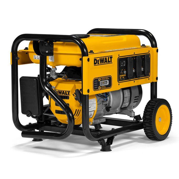 Dewalt 4000watt gasoline powered portable generator in