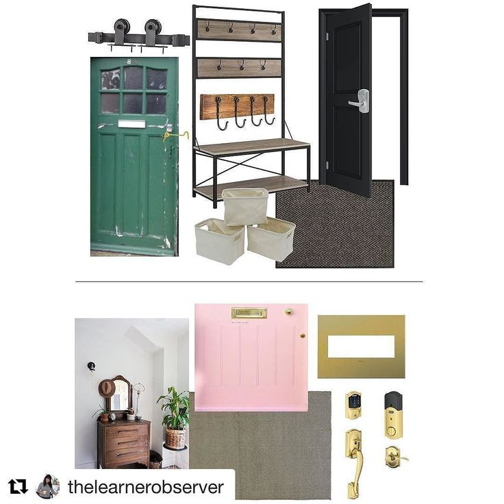This mood board looks awesome. Such vibrant colours! #schlage #Repost @thelearnerobserver (@get_repost)  Here we go again! Its tile for the Fall One Room Challenge and this time were tackling two spaces (technically three)! The mudroom and front entryway are the two small spaces were making over and I cant wait to see our giant pile of coats shoes and random toddler things get organized. Finally! Oh and yes there will be green and pink yet again much like the laundry room. It seems these are…