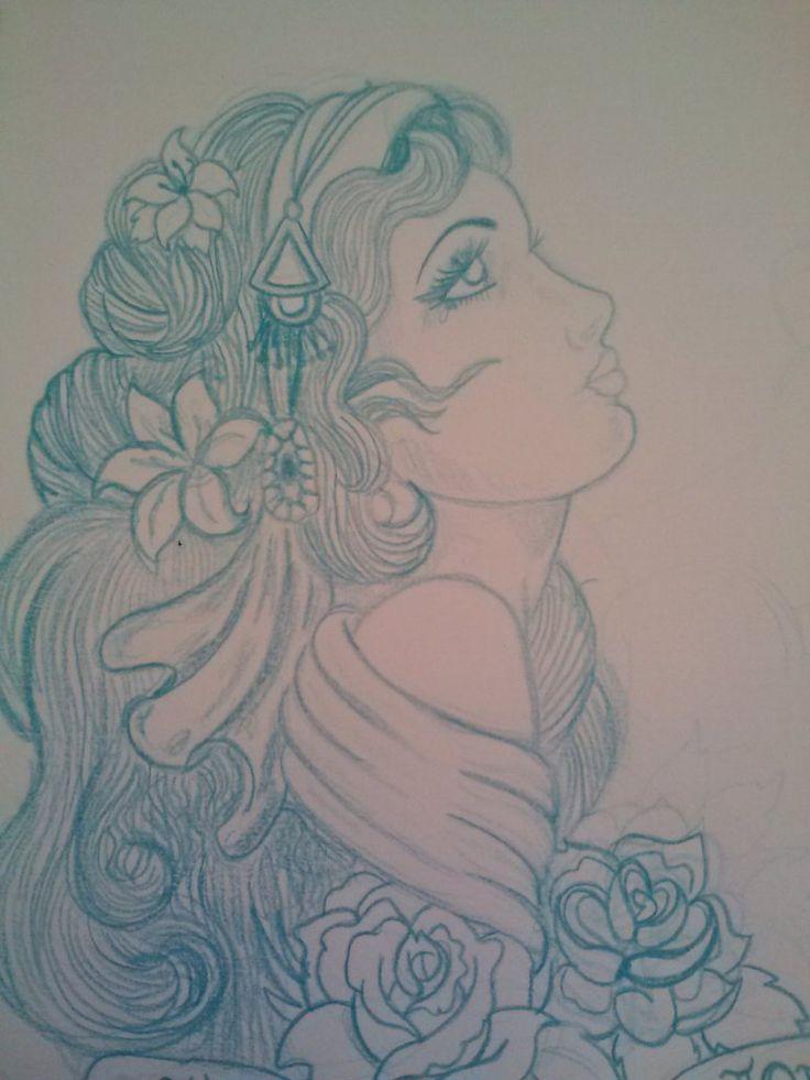 traditional gypsy tattoo   Gypsy Tattoo Design by samanthalyn1