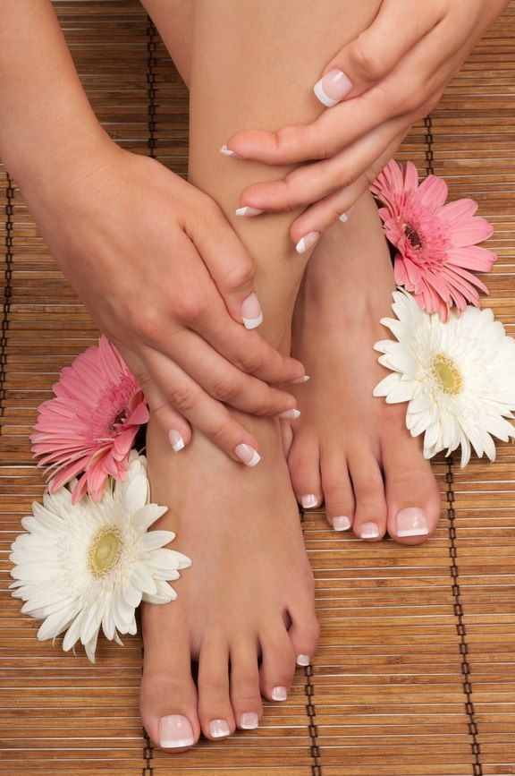 Love the clean, classic look of a french mani & pedi !