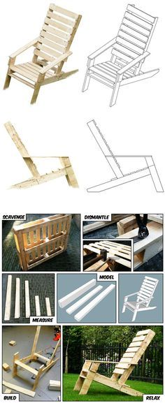 One-Pallet Chair   Cool Outdoor DIY Pallet Furniture by DIY Ready at  http://diyready.com/diy-pallet-projects-outdoor-furniture/