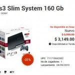 Gameplanet: Oferta PS3 Slim 160 gb $3,149