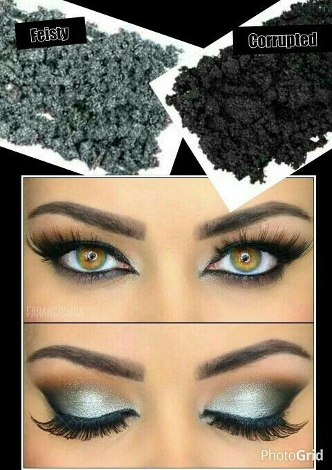 Younique Moodstruck Minerals Pigment Powders Eyeshadow Silver Feisty Corrupted Available in 34 matte and shimmery shades Shop www.youniqueproducts.com/amandabindrum