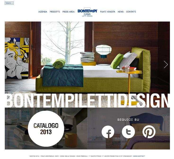Website for Bontempi Letti Design by Greenbubble