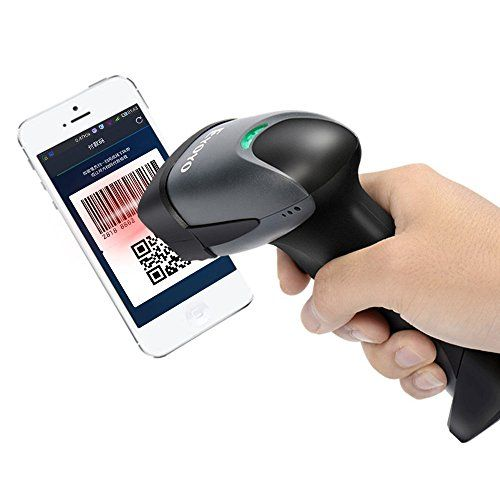 QR Barcode Scanner Eyoyo EY-001 Wired Handheld 1D 2D USB CCD Laser Barcode Reader For Mobile Payment Computer Screen Scan(Black)