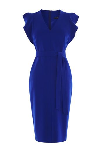 Karen Millen, Robe à volants Bleu                                                                                                                                                                                 Plus