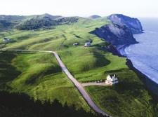 Vue depuis la Butte Ronde au Havre-aux-Maisons, Îles de la Madeleine, Québec, Canada