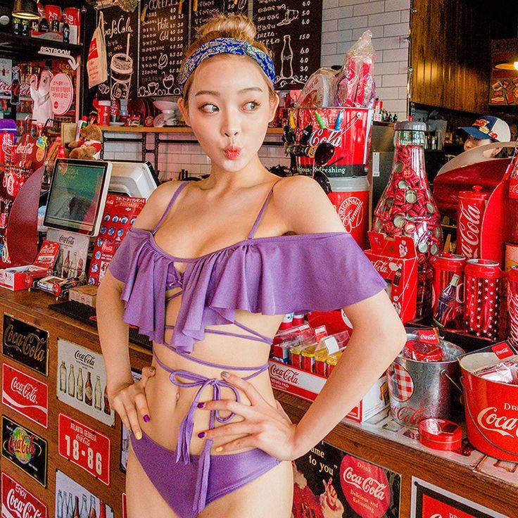 Cute Korean style swimwear, beachwear, bikinis and monokinis from Petite Cherry