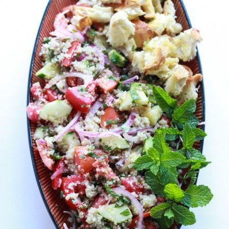Quinoa and Heirloom Tomato Panzanella Salad - heirloom tomatoes ...