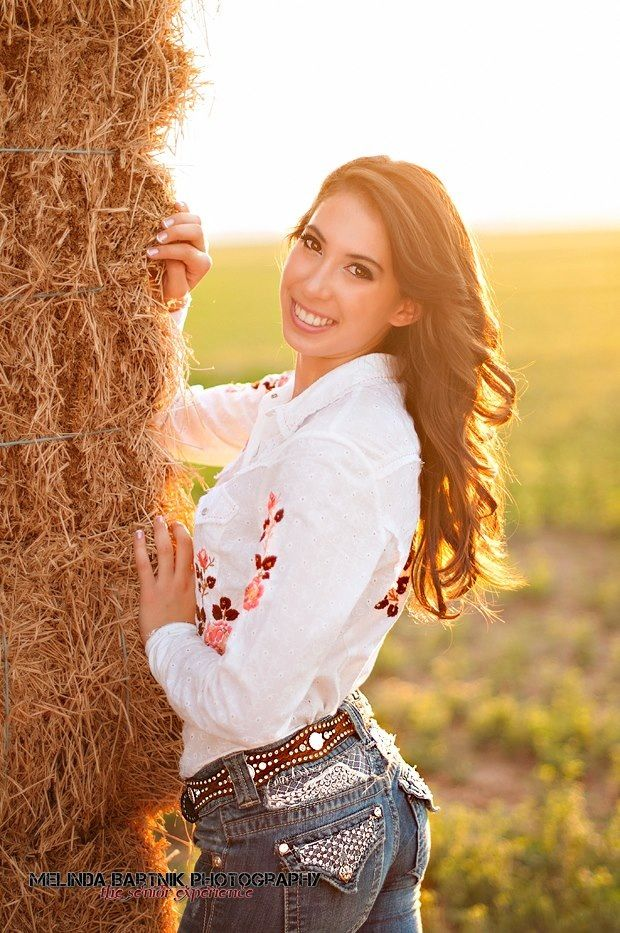 Casual Sexy Country Girl In Rural Setting Stock Photo ...