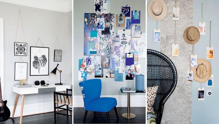 Når man hænger alle sine små og store værker samlet op på en væg, kalder vi det en gallerivæg. Men der findes mange flere inspirerende måder at lave flotte gallerivægge på, som samtidig er både billige og personlige. Se bare med her ...