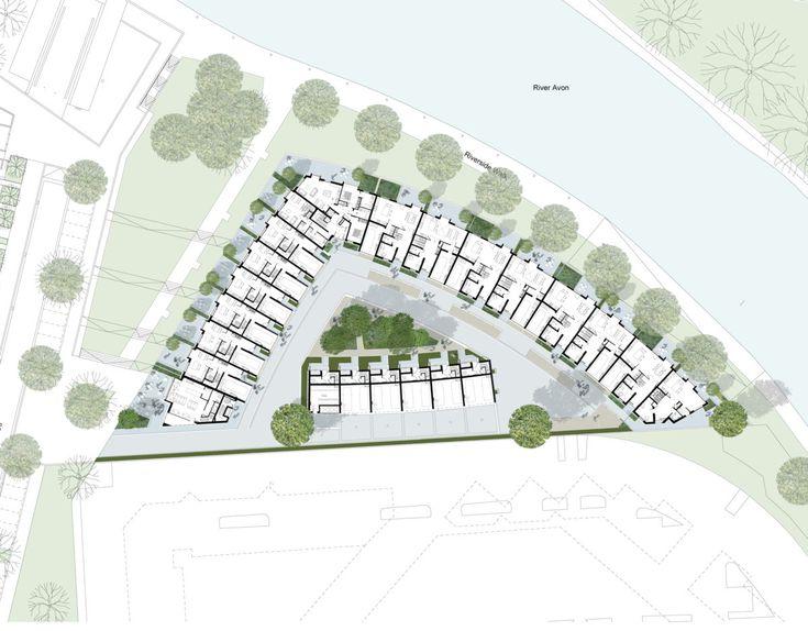 Alison Brooks Architects _ Bath Western Riverside _ Groundfloor Plan