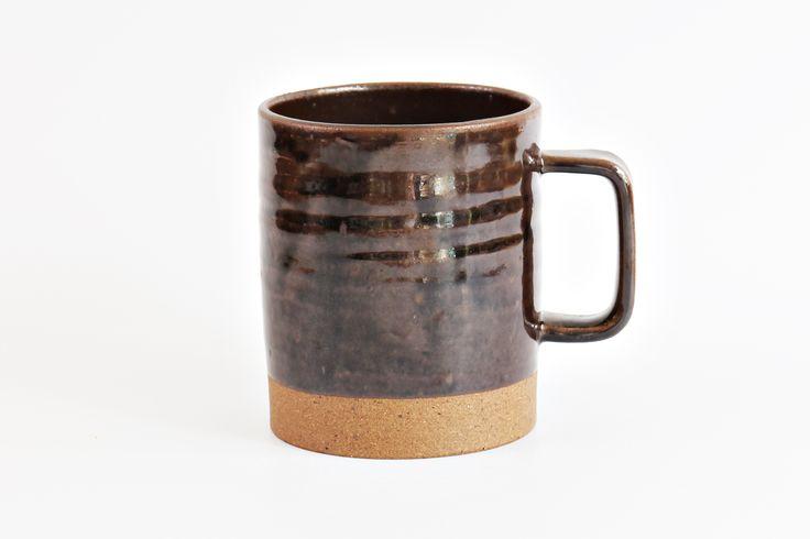 rectangle mug dark brown