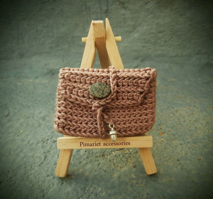 crochet mini bag cotton