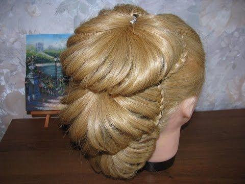 Exotic, unique layered ponytail DIY tutorial @ youtube  Ажурные косы.Праздничная прическа на выпускной