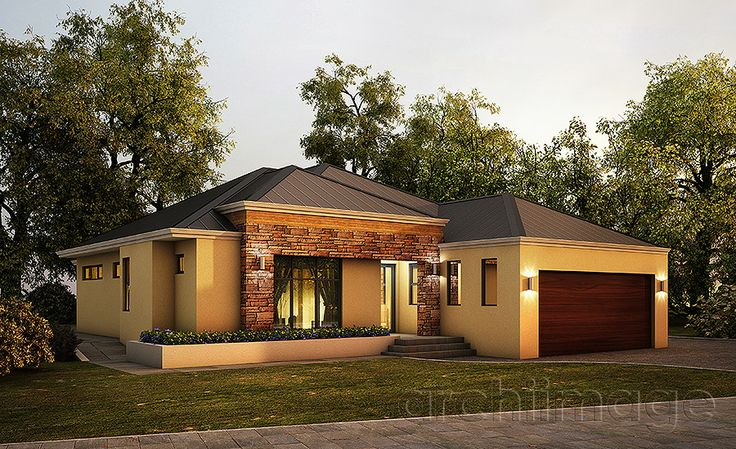 Architectural Render of a single storey house. House designed by Boyd Design Perth.