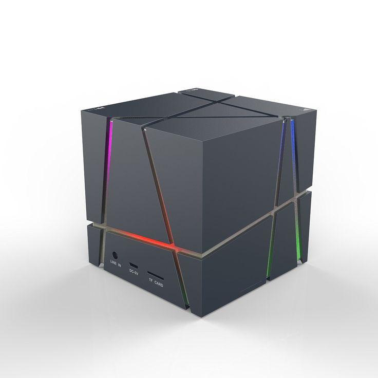 The design fashionable arrela allspark cube ultra portable wireless bluetooth speaker powerful - Porta cd design ...