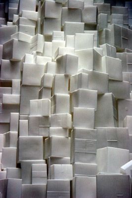 Rachel Whiteread. Don't *always* love her, but sometimes the whole negative space effect is pretty cool. From artofthestate.co.uk--
