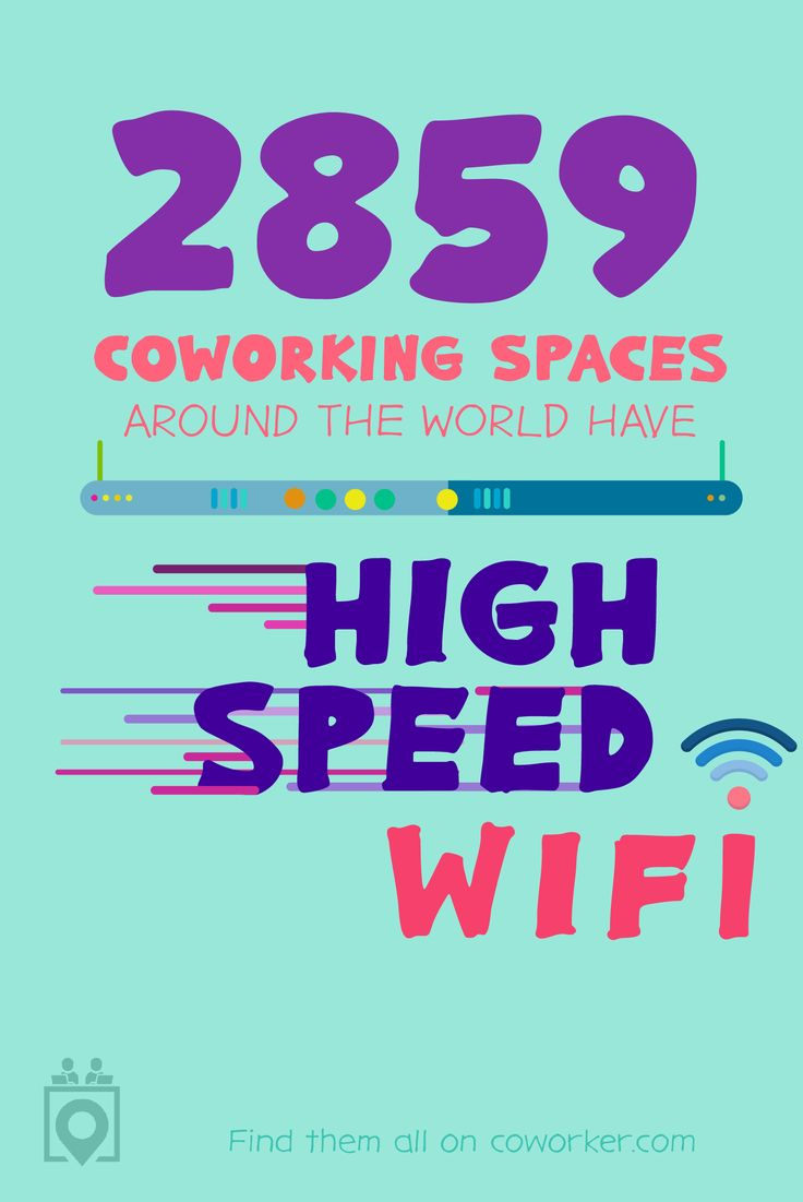 Great WiFi is undoubtedly  the most important factor in choosing a place to work. Luckily, Coworker.com has thousands of spaces with the best wifi you can get! Don't believe us? Book your free day pass at a space near you today!