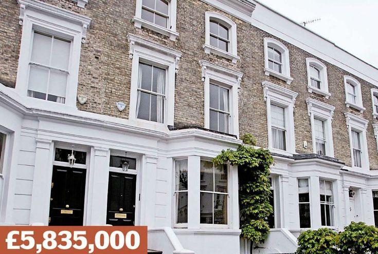 Abingdon Villas, Kensington: A terraced house near Kensington Palace Gardens - Britain's  priciest street, home to Chelsea FC owner Roman Abramovich. Sold in 2004 for £1.85million