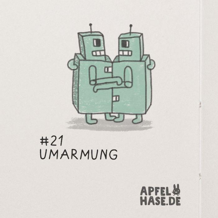 365 doodles: hug/Umarmung  Illustration, drawing, challenge, daily, draw every day, sketchbook, doodle