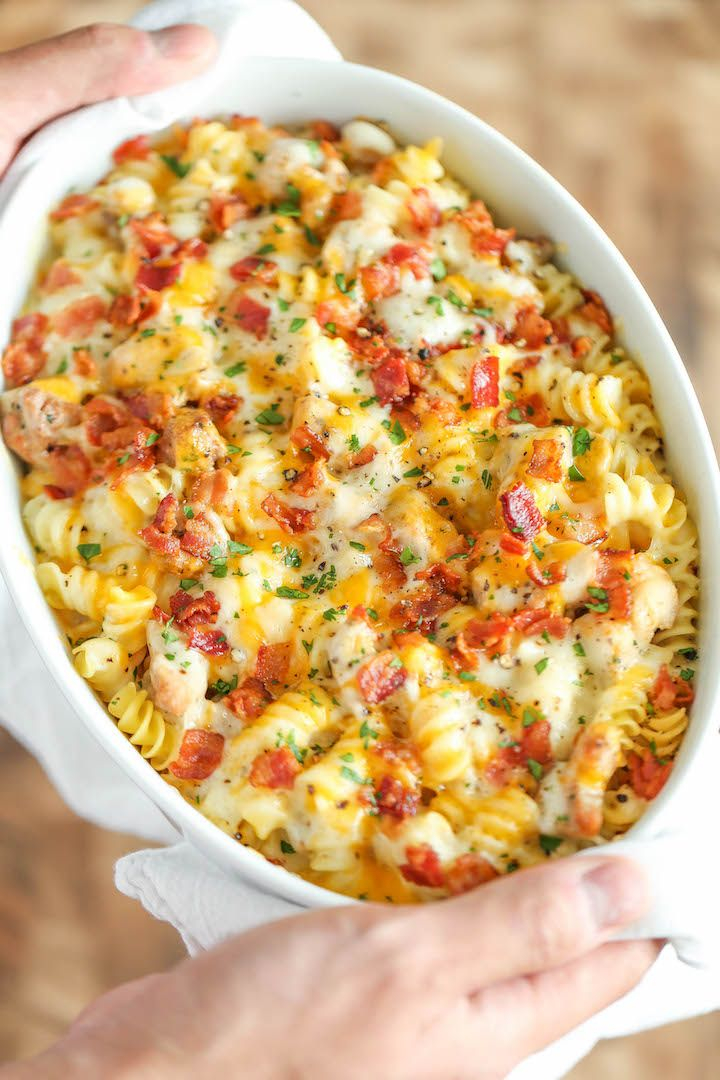 Chicken Bacon Ranch Casserole FoodBlogs.com