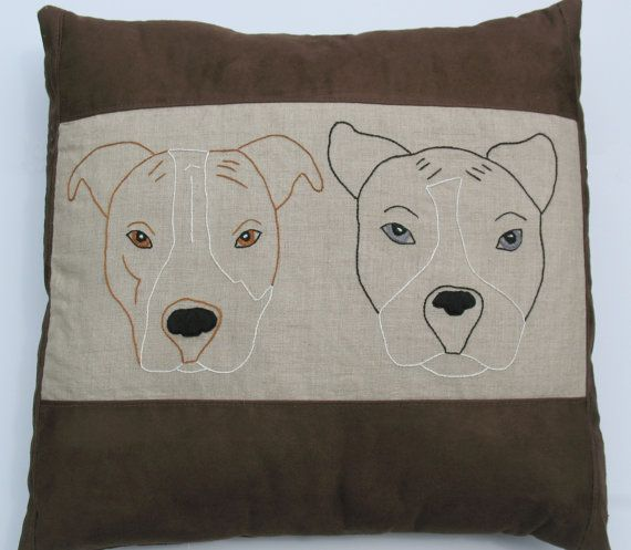 Large Custom Pet Pillow different types of dogs by TweetNStitchy