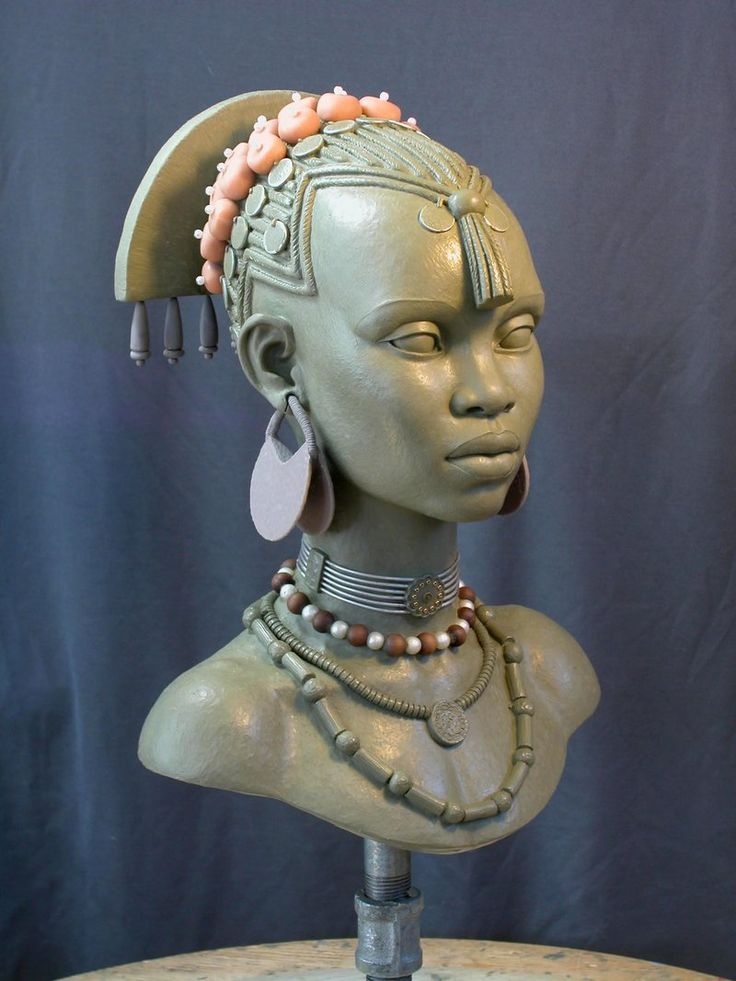 art gallery sculpted busts | female bust 2 by marknewman traditional art sculpture busts people ...