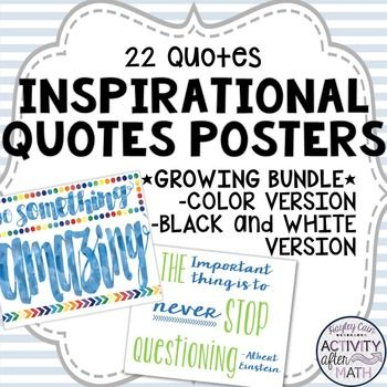 Inspirational Quotes for your classroom!This is a growing Bundle so more quotes will be added!Would you rather have these for your Heidi Swapp…
