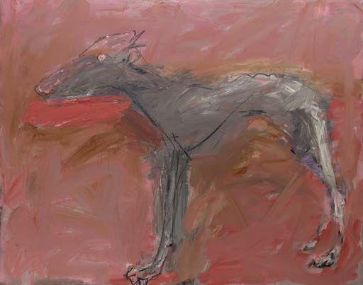 Basil Blackshaw - Pink Dog on MutualArt.com