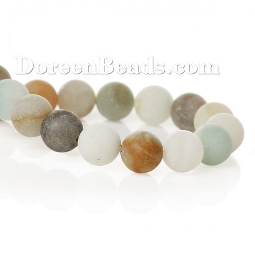 Worldwide Free Shipping (Grade B) Amazonite (Natural) Loose Beads Round A Random Frosted About 6mm(2/8) Dia, Hole: Approx 1mm, 39.5cm(15 4/8) long, 1 Strand (Approx 65 PCs/Strand) [Q00062] at incredible low price– DoreenBeads.com