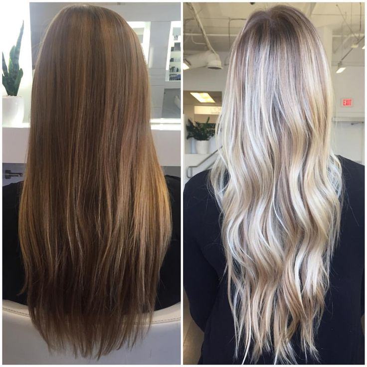 "C O L O R B Y B A I L E Y on Instagram: ""Before and After: full balayage using #lorealprous platine"""