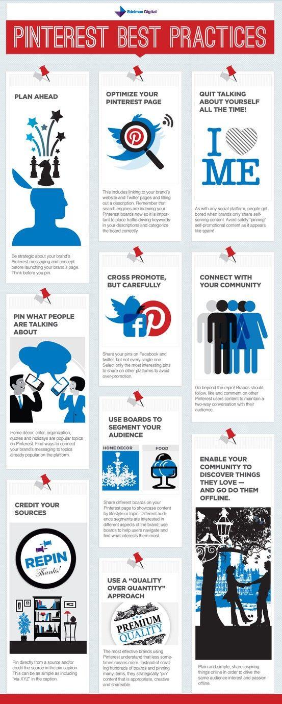 Best Practice for Pinterest #SocialMedia #infographic #Pinterest