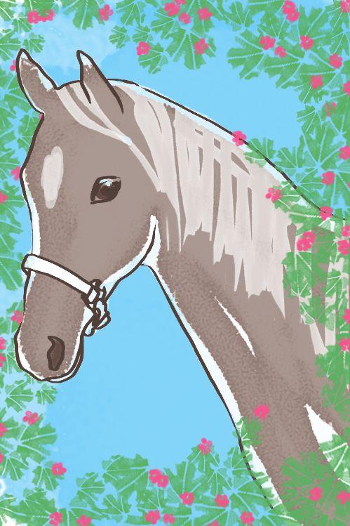 'cavallino nocciola' illustration by Giulia Benaglia