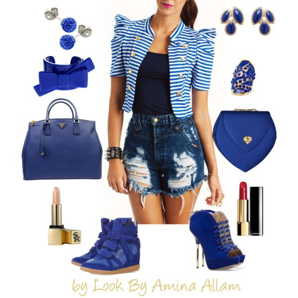 """""""BLUE"""" by Look By Amina Allam"""