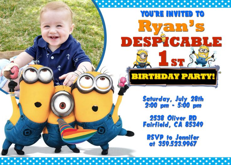 239 best invitations templates by finestpartyinvitations nice despicable me birthday invitations free templates check more at http stopboris Gallery