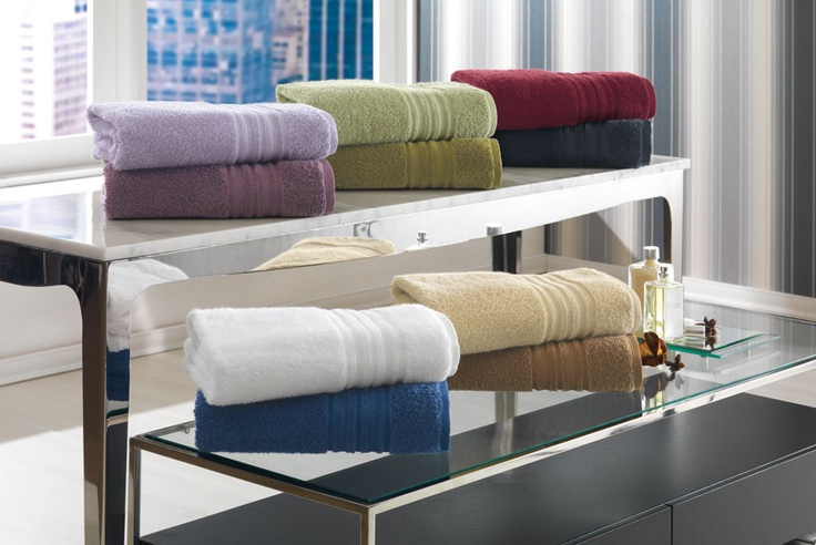 Lenceria De Baño Con Aplicaciones:Jugando con los colores de las toallas de baño http://wwwaimbulerias