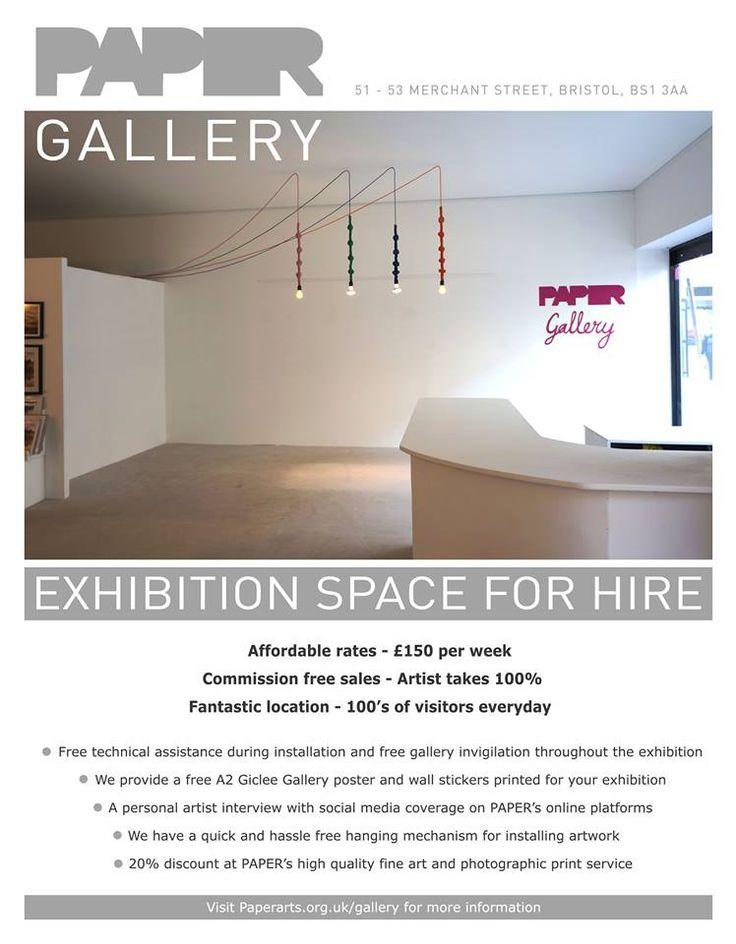 http://paperarts.org.uk/gallery/  PAPER Arts, 51-53 Merchant St, Broadmead, Bristol, BS1 3EE