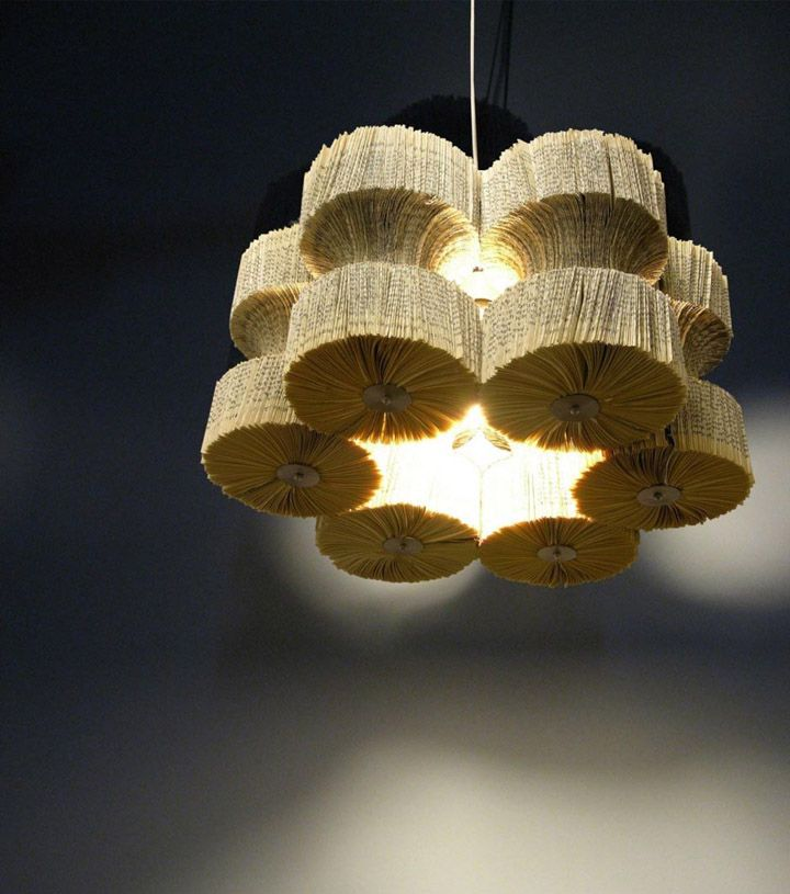 Light Reading Chandelier By Lula Dot    Wasted Books Are Used To Create An  Attractive
