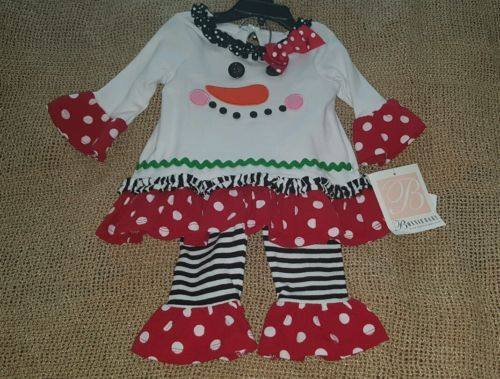 Bonniebaby-Christmas-outfit-2pcs-New-w-tags-Sz-3-6-mos-Free-shipping