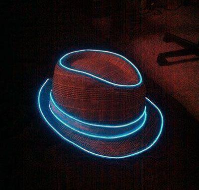 Accessoires en fil électroluminescents bleu